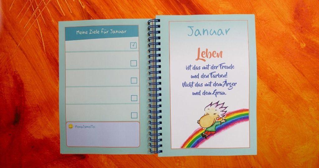 Lebensfreude-Zielplaner-Buchkalender für 2021 - es darf leicht sein