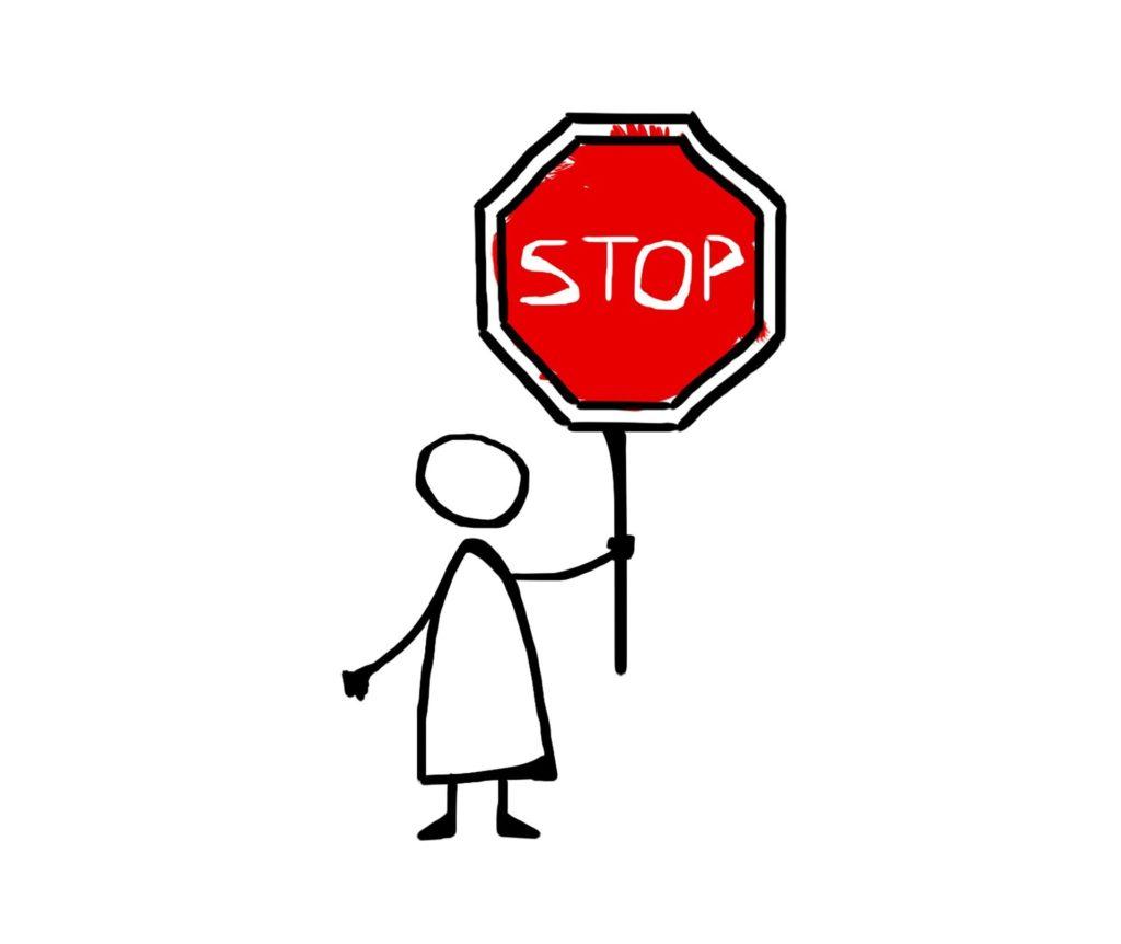 Stop - Eigene Grenzen achten